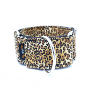 LEOPARD MARTINGALE dog collar