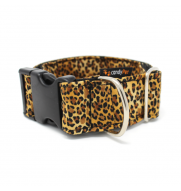 LEOPARD CLICK dog collar